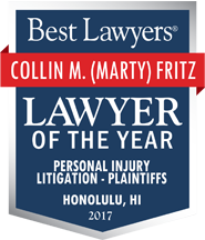 Best Lawyers | Collin Marty Fritz | Lawyer of The Year | Personal Injury Litigation Plaintiffs | Honolulu, Hi 2017